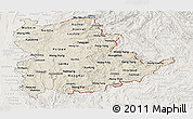 Shaded Relief Panoramic Map of Shan, lighten