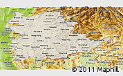 Shaded Relief Panoramic Map of Shan, physical outside