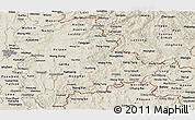Shaded Relief Panoramic Map of Shan