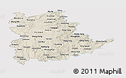 Shaded Relief Panoramic Map of Shan, single color outside