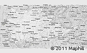 Silver Style Panoramic Map of Shan