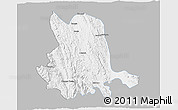 Gray 3D Map of Pinlaung, single color outside