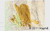 Physical 3D Map of Pinlaung, lighten