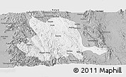 Gray Panoramic Map of Pinlaung