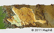Physical Panoramic Map of Pinlaung, darken