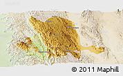 Physical Panoramic Map of Pinlaung, lighten