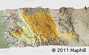 Physical Panoramic Map of Pinlaung, semi-desaturated
