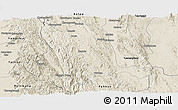 Shaded Relief Panoramic Map of Pinlaung