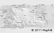 Silver Style Panoramic Map of Pinlaung