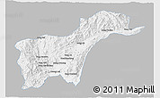 Gray 3D Map of Tachilek, single color outside