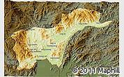 Physical 3D Map of Tachilek, darken