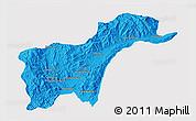 Political 3D Map of Tachilek, single color outside