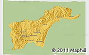 Savanna Style 3D Map of Tachilek, single color outside