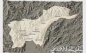 Shaded Relief 3D Map of Tachilek, darken