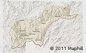 Shaded Relief 3D Map of Tachilek, lighten