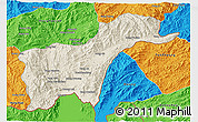 Shaded Relief 3D Map of Tachilek, political outside