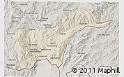 Shaded Relief 3D Map of Tachilek, semi-desaturated