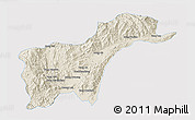 Shaded Relief 3D Map of Tachilek, single color outside