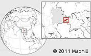 Blank Location Map of Tachilek, highlighted parent region