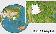 Satellite Location Map of Tachilek, highlighted parent region