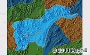 Political Map of Tachilek, darken