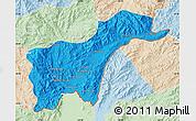 Political Map of Tachilek, lighten
