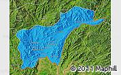 Political Map of Tachilek, satellite outside
