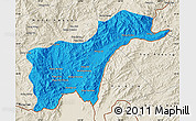 Political Map of Tachilek, shaded relief outside