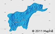 Political Map of Tachilek, single color outside