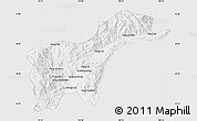 Silver Style Map of Tachilek, single color outside