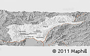 Gray Panoramic Map of Tachilek