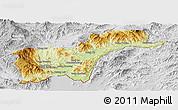 Physical Panoramic Map of Tachilek, lighten, desaturated