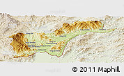 Physical Panoramic Map of Tachilek, lighten