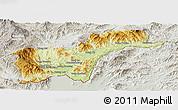 Physical Panoramic Map of Tachilek, lighten, semi-desaturated
