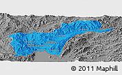Political Panoramic Map of Tachilek, desaturated