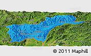 Political Panoramic Map of Tachilek, satellite outside