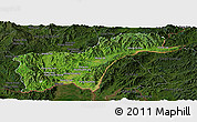 Satellite Panoramic Map of Tachilek, darken