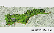 Satellite Panoramic Map of Tachilek, lighten