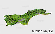 Satellite Panoramic Map of Tachilek, single color outside