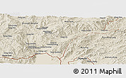 Shaded Relief Panoramic Map of Tachilek