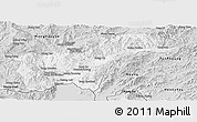 Silver Style Panoramic Map of Tachilek