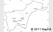 Blank Simple Map of Tachilek, cropped outside