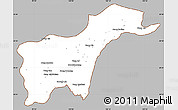 Gray Simple Map of Tachilek, cropped outside