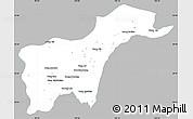 Gray Simple Map of Tachilek, single color outside