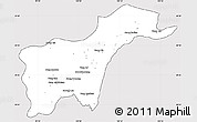 Silver Style Simple Map of Tachilek, cropped outside