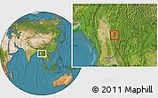 Satellite Location Map of Taunggyi