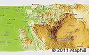 Physical Panoramic Map of Ye-Ngan