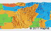 Political Panoramic Map of Ye-Ngan