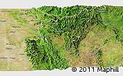 Satellite Panoramic Map of Ye-Ngan