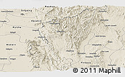 Shaded Relief Panoramic Map of Ye-Ngan